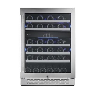 Avallon AWC241DZRH 24 Inch Wide 46 Bottle Capacity Dual Zone Wine Cooler with Ri
