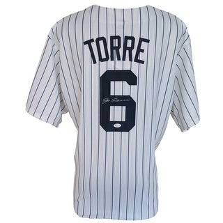 Joe Torre Signed New York Yankees Replica Majestic Pinstripe Small Jersey JSA