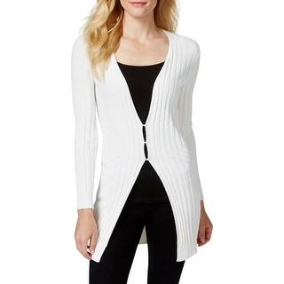 Studio M Womens Joseline Cardigan Sweater Ribbed Knit Tunic