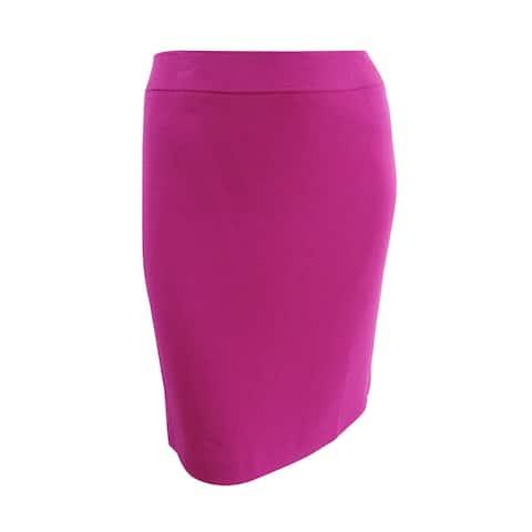 Tahari ASL Women's Ponte-Knit Skirt (14, Fuchsia) - Fuchsia - 14