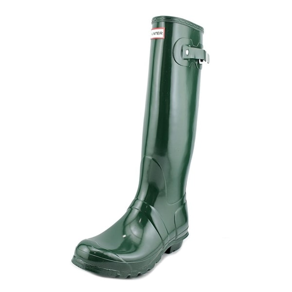 Hunter Original Tall Glossy Round Toe Synthetic Rain Boot