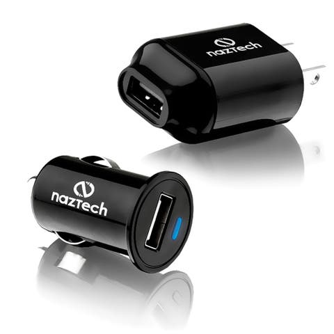 Micro USB Wall and Car Charger for Samsung S2,S3,S4 & iPhone 4, includes Micro USB and Apple 30 Pin Cable - Black