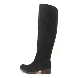 Lucky Brand Womens HARLEEN Leather Almond Toe Over Knee Fashion Boots