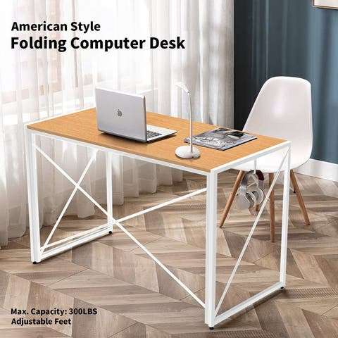 Nova Furniture Folding Computer Desk, Learning Desk, Writing Desk Grey Desktop