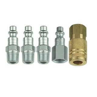 """Forney 75326 Tru-Flate Compatible Air Fitting Plug & Coupler Set, 1/4"""""""