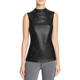 Bailey 44 Womens Tank Top Faux Leather Sleeveless