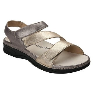 Link to Drew Shoe Womens Angela Leather Open Toe Casual Slide Sandals Similar Items in Women's Shoes