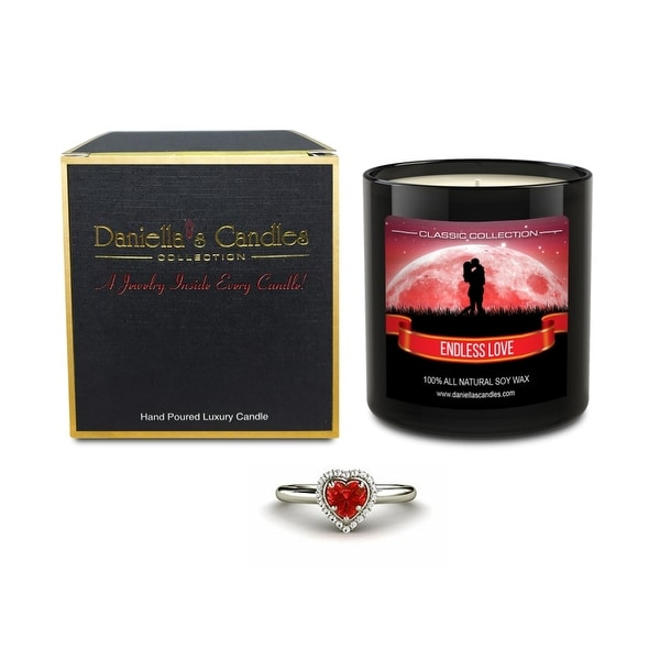 Daniella's Candles Endless Love Jewelry Candle, Ring Size 6