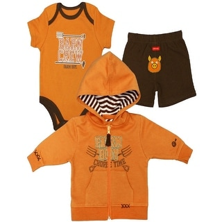Farm Boy Western Shirt Boys Barn Crew 3 Pc Set L/S Orange F31124007