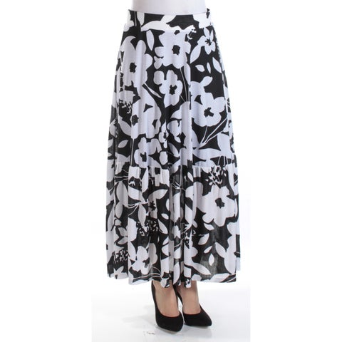 Womens Black Floral Casual Skirt Size S