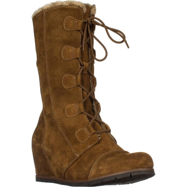 BareTraps Brinda Wedge Winted Boots, Whiskey