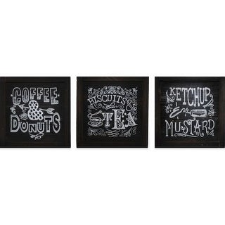 PTM Images 524642 Chalkboard-Look Kitchen Signs (Set of 3)