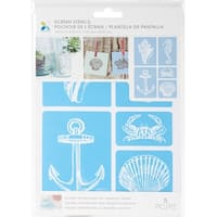 "Momenta Craft Screen Stencils 6""X9""-Nautical"