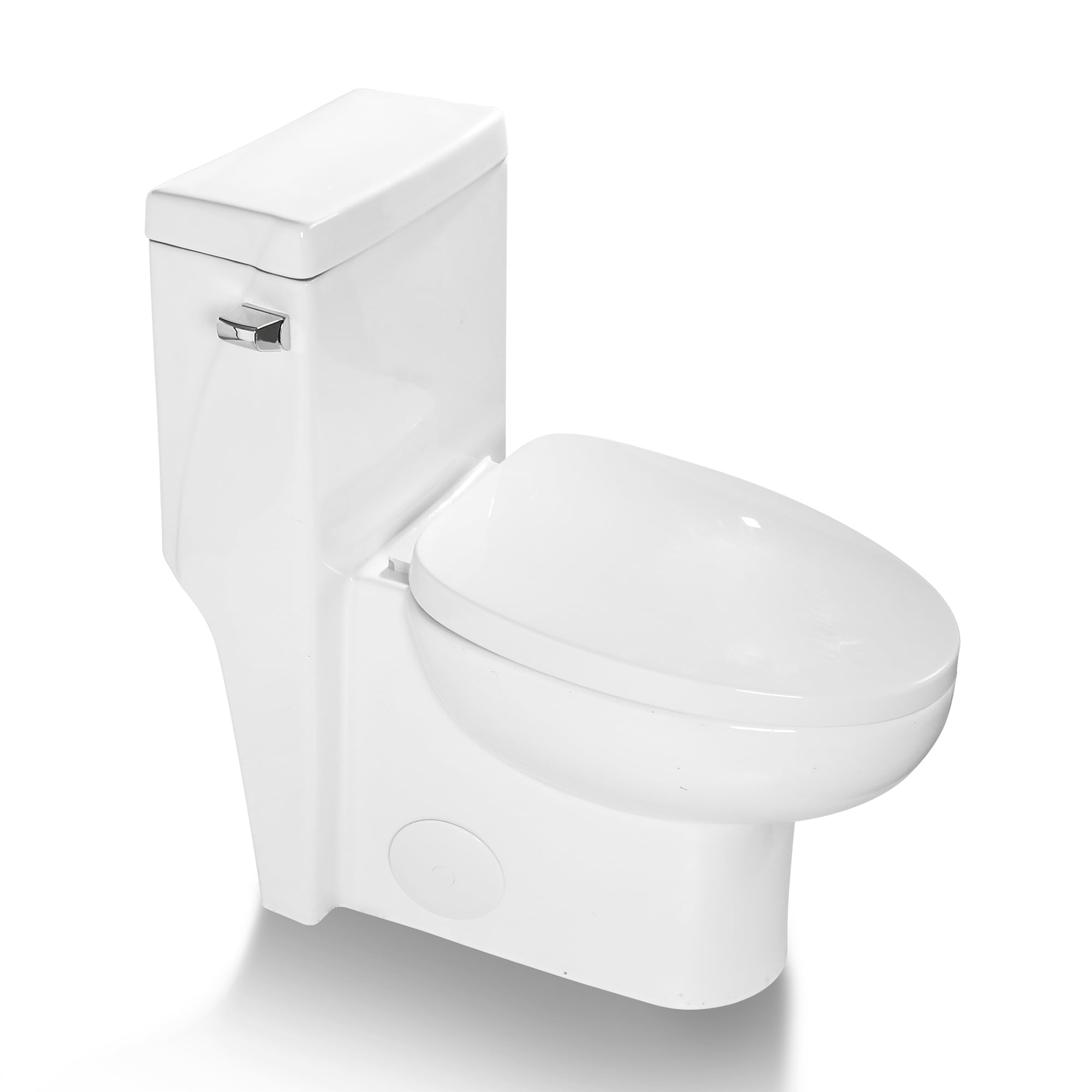 1 28 Gpf Water Efficient Elongated One Piece Toilet Seat Included On Sale Overstock 32523431