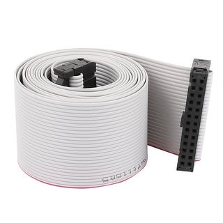 1.28m 4.2ft 26P 26 Way 2.54mm Pitch F/F IDC Extension Flat Ribbon Cable Gray