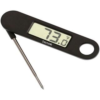 Taylor 1476 Digital Thermometer, Plastic, Black
