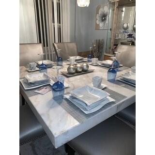 MALACASA Flora Porcelain Dinnerware Set (Service for 6)