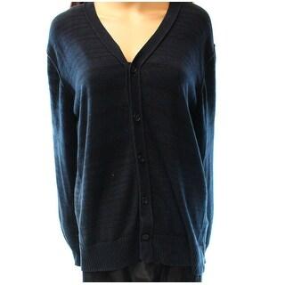 Public Opinion NEW Black Women's Size Large L Cardigan Striped Sweater