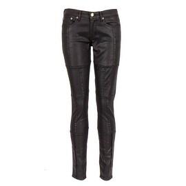 Sonas Denim Broadway Black Patchwork Skinny Jeans