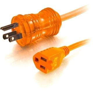 C2G 48072 C2G 8ft 16 AWG Hospital Grade Power Extension Cord (NEMA 5-15P to NEMA 5-15R) - Orange - 125 V AC Voltage Rating - 13