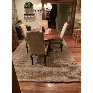 "Safavieh Casual Natural Fiber Hand-Woven Natural Accents Chunky Thick Jute Rug - 7'-6"" X 9'-6"""