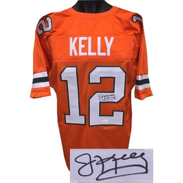 huge selection of 32ffa 66fe0 Jim Kelly signed Orange TB Custom Stitched College Style Football Jersey XL  JSA Hologram