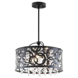 DVI Lighting DVP14704 Woodstock 3 Light Drum Pendant
