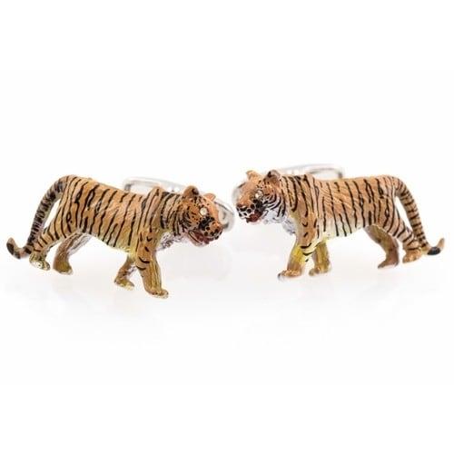 Tiger Cufflinks - Hand Painted Animal