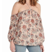 BB Dakota Pink Women's Size Small S Floral Print Halter Blouse