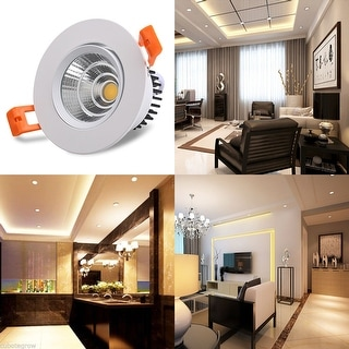 4 Pcs 3W 5W 7W Warm White COB LED Recessed Ceiling Down Lights Lamps 3000-3200k