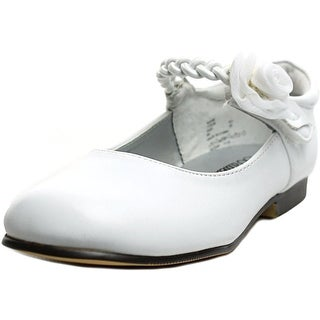 Balleto by Jumping Jacks Katie Toddler N Round Toe Synthetic White Mary Janes