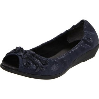 The Flexx Womens Bow Commotion Ballet Flats Leather Embossed - 6 medium (b,m)