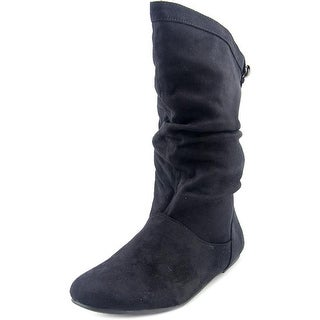 Sarah Jayne Jane Slouch Round Toe Synthetic Mid Calf Boot