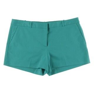 MICHAEL Michael Kors Womens Cotton Blend Solid Casual Shorts - 4