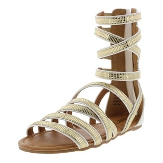 Kensie Girl Girls Faux Leather Gladiator Sandals