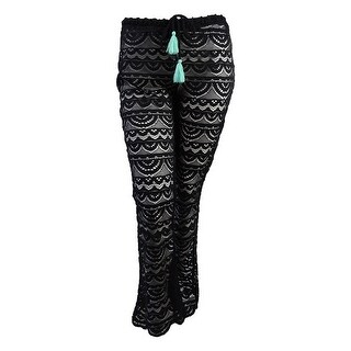 Miken Juniors Scalloped Crochet Cover-Up Pants
