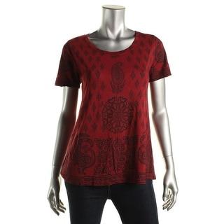 Lucky Brand Womens Modal Blend Paisley T-Shirt - M