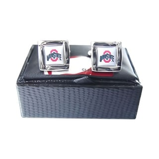 NCAA Ohio State Buckeyes Square Cufflinks Gift Box Set