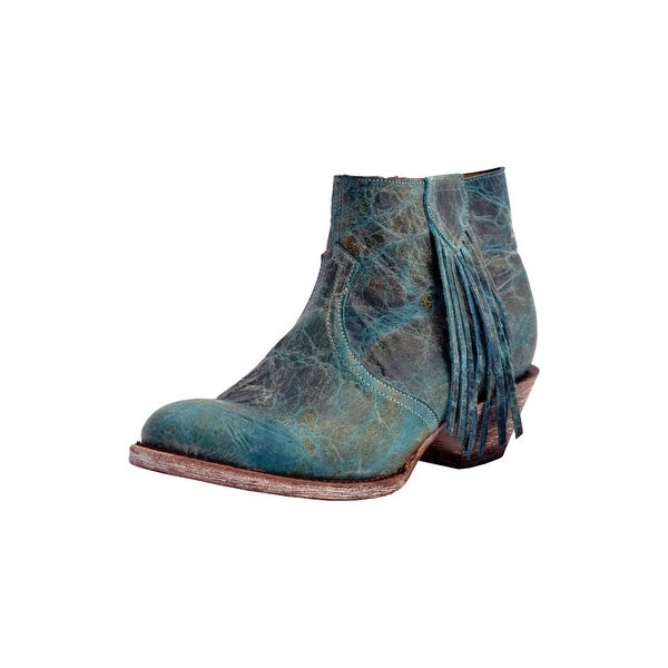 489758b2b Shop Ferrini Western Boots Womens Cowboy Heel Ankle Turquoise - Free  Shipping Today - Overstock - 25896709
