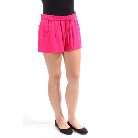 FRENCH CONNECTION Womens Pink Tie Short Size 10