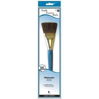 Robert Simmons - Simply Simmons Studio Brush Set - Camel Hair - 3-Brush Set - Short Handle (Round 4; Flat Shader 4, 8) - CM3S2