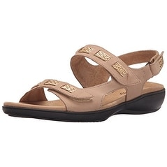 Trotters Womens Kip Leather Open Toe Casual Slingback Sandals