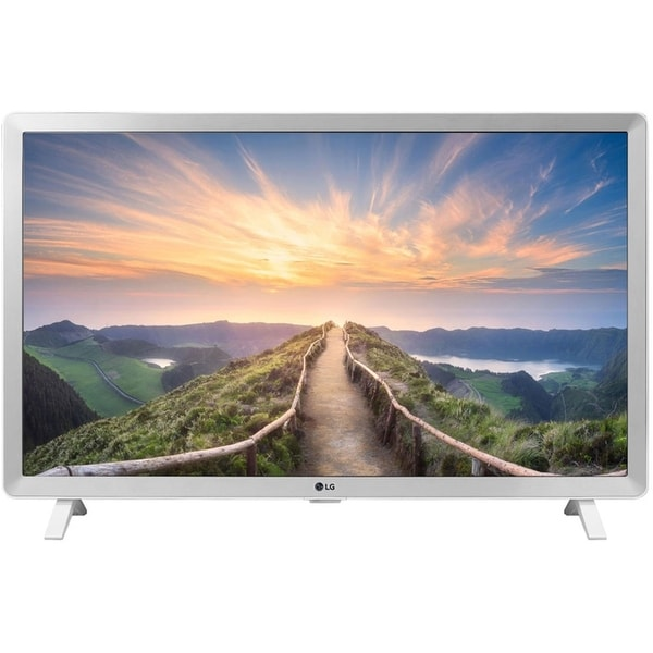 """LG 24LM520D-WU 1366 x 768 24"""" LCD HDR TV,White (New Open Box) - White - 13.4 x 22.2 x 2.4 Inches (Without Stand). Opens flyout."""