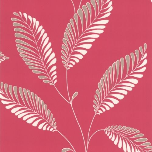 Brewster DL30466 Aubrey Pink Modern Leaf Trail Wallpaper