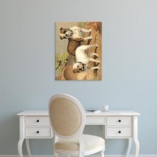 Easy Art Prints Vero Shaw's 'Bull Dogs' Premium Canvas Art