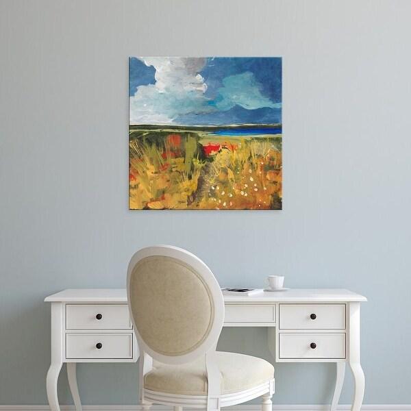 Easy Art Prints Jan Weiss's 'Spring Wildflowers' Premium Canvas Art