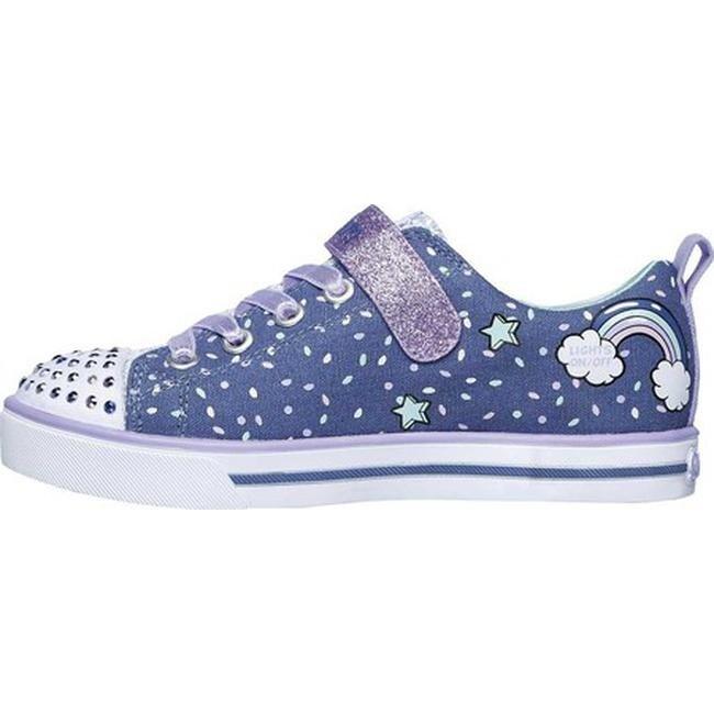 Skechers Girls' Twinkle Toes Shuffles Sparkle Lite Sneaker DenimLavender
