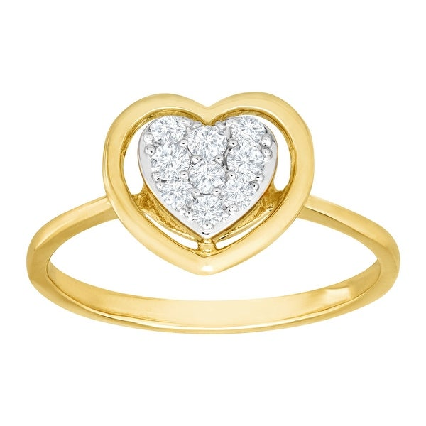 1/4 ct Diamond Heart Ring in 10K Gold