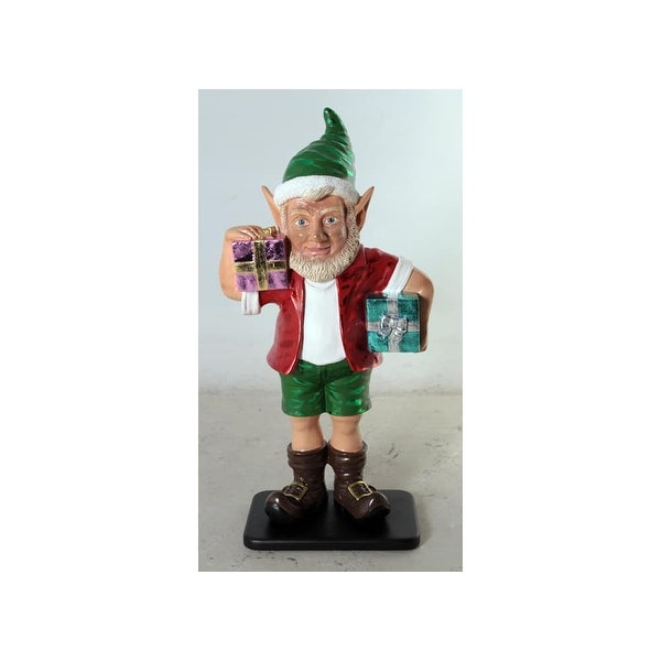 "Christmas at Winterland WL-ELF-2G-03 36"" Elf Figurine with 2 Gift Packages - MultiColor - N/A"
