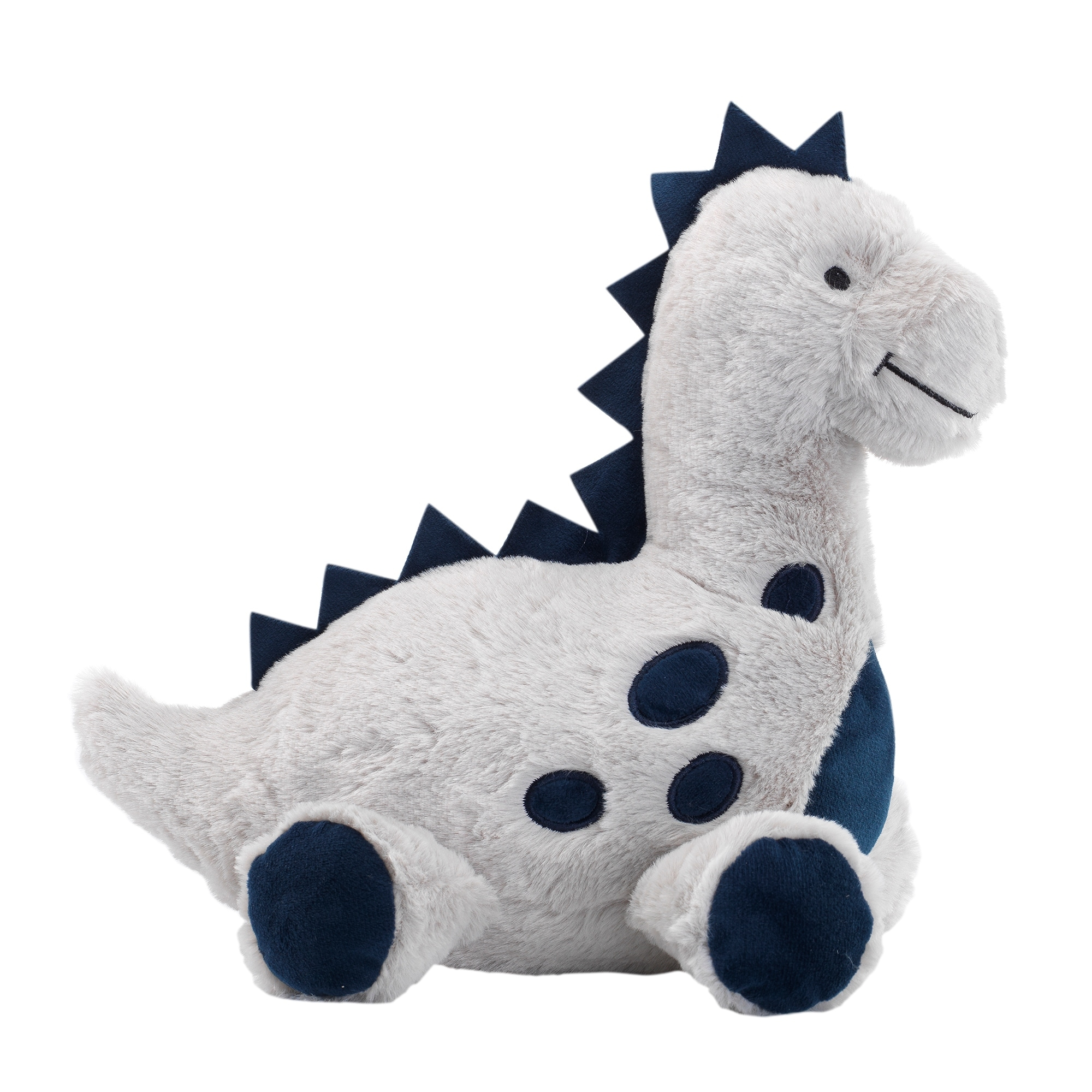 Shop Lambs Ivy Baby Dino Blue Gray Plush Dinosaur Stuffed Animal